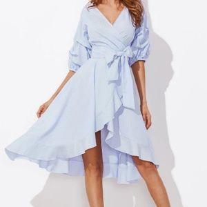 Media By Medina Dresses - 🦄HP🦄Gathered Sleeve wrap dress L & XL Avail🆕💞